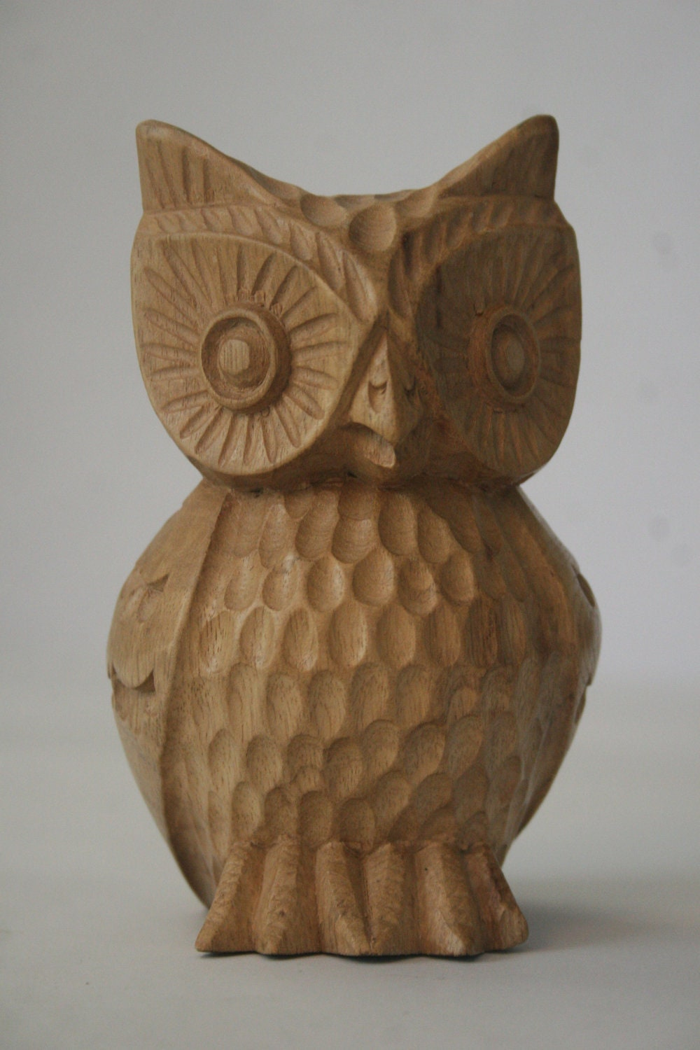 Wood carved owl by rdandvine on etsy