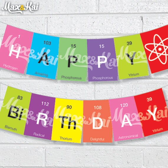DIY CUSTOM Printable Periodic Table/science Happy By Maxandkai