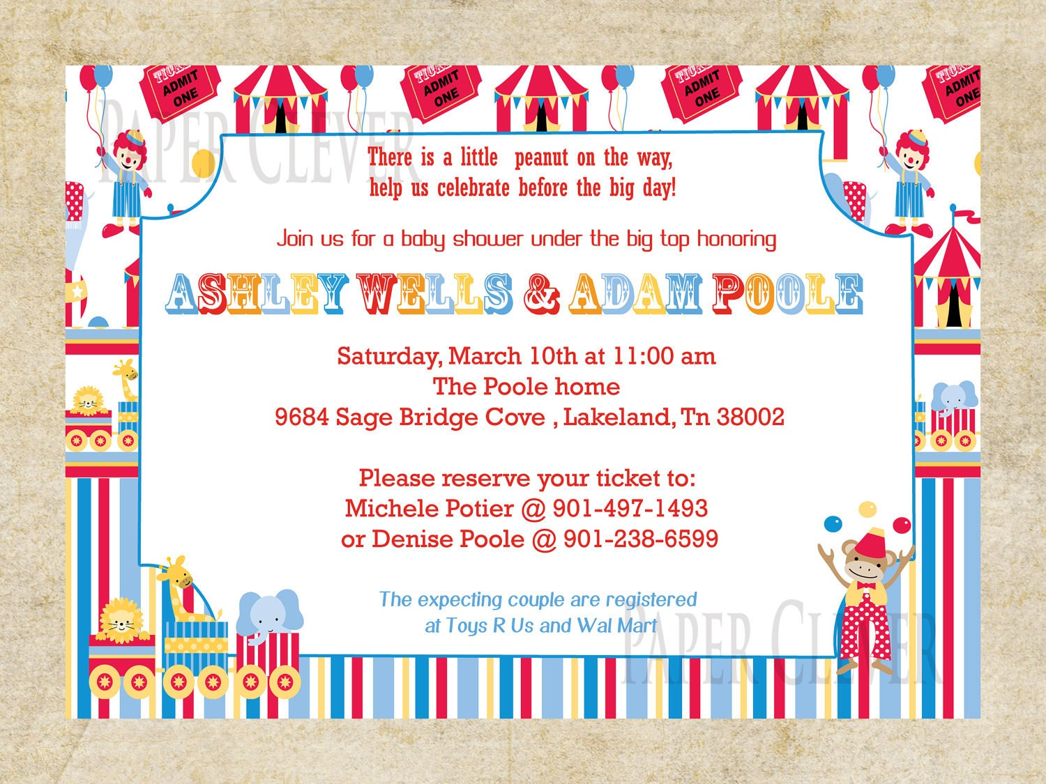 Circus Baby Shower Invitations was very inspiring ideas you may choose for invitation ideas