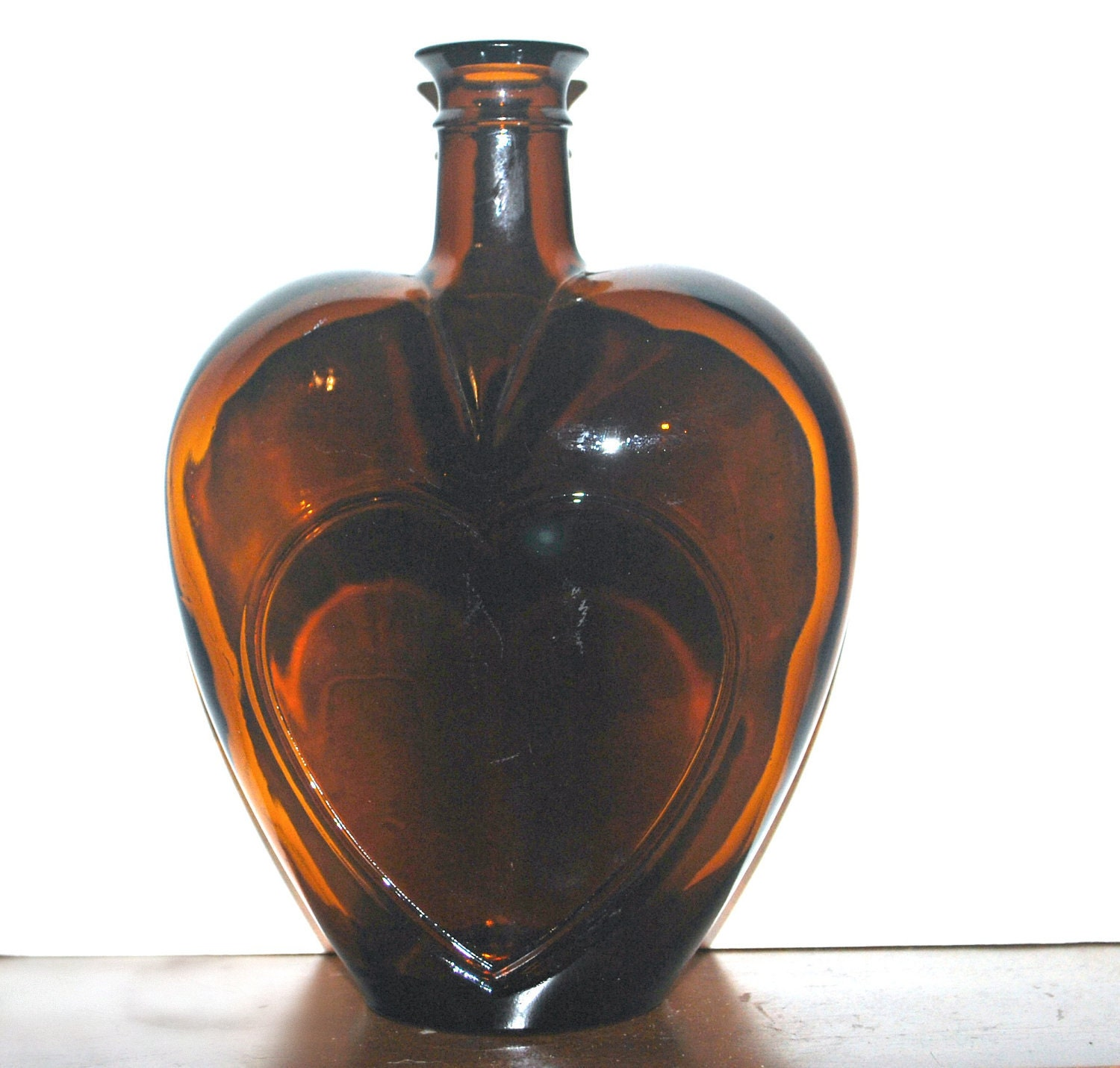 Vintage Paul Masson Heart Shaped Bottle By Capecodgypsy On