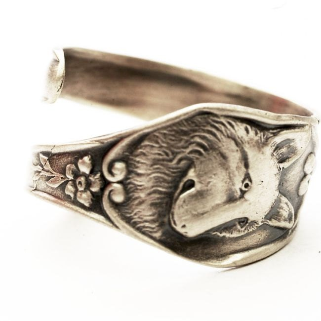 spoon ring nouveau sterling silver wolf spoon ring by