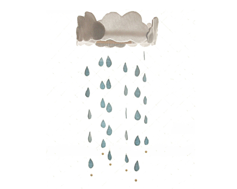 Nursery Mobile - Rainy Day - ShopLittles