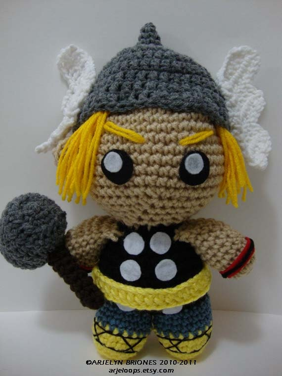 Thor Crochet Doll READY TO SHIP by Arjeloops on Etsy