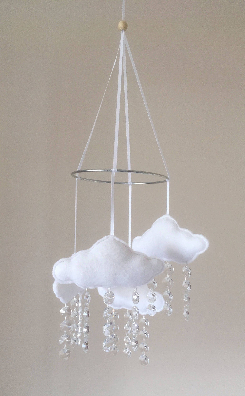 Baby Mobile Cloud Mobile Nursery Decor Cloud decor Cot mobile Crib Mobile