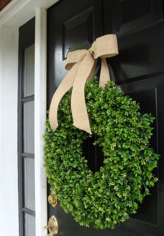 Boxwood wreath year round wreath decor etsy wreath artificial