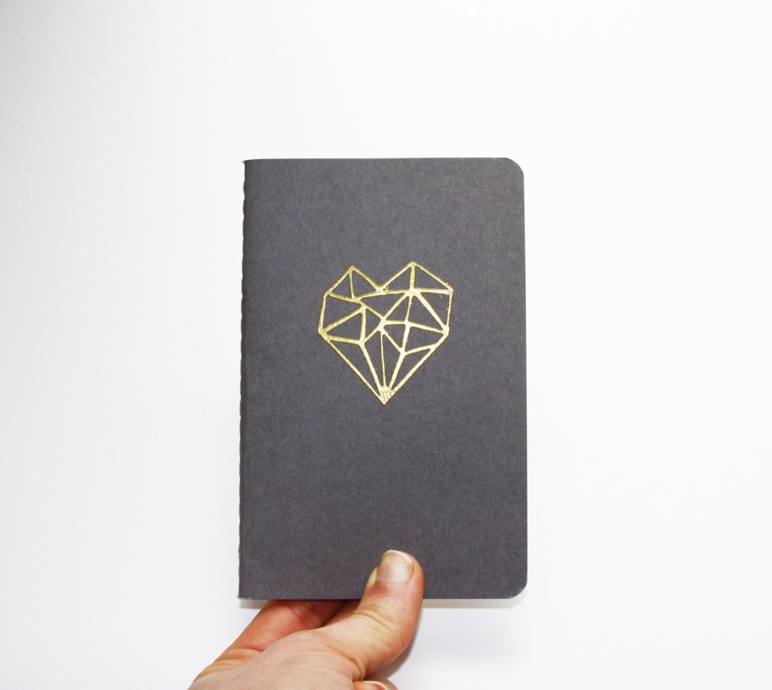 Golden Heart, Pocket Moleskine Notebook - nativebear