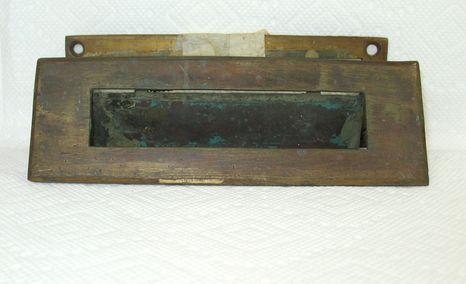 Antique mail slot