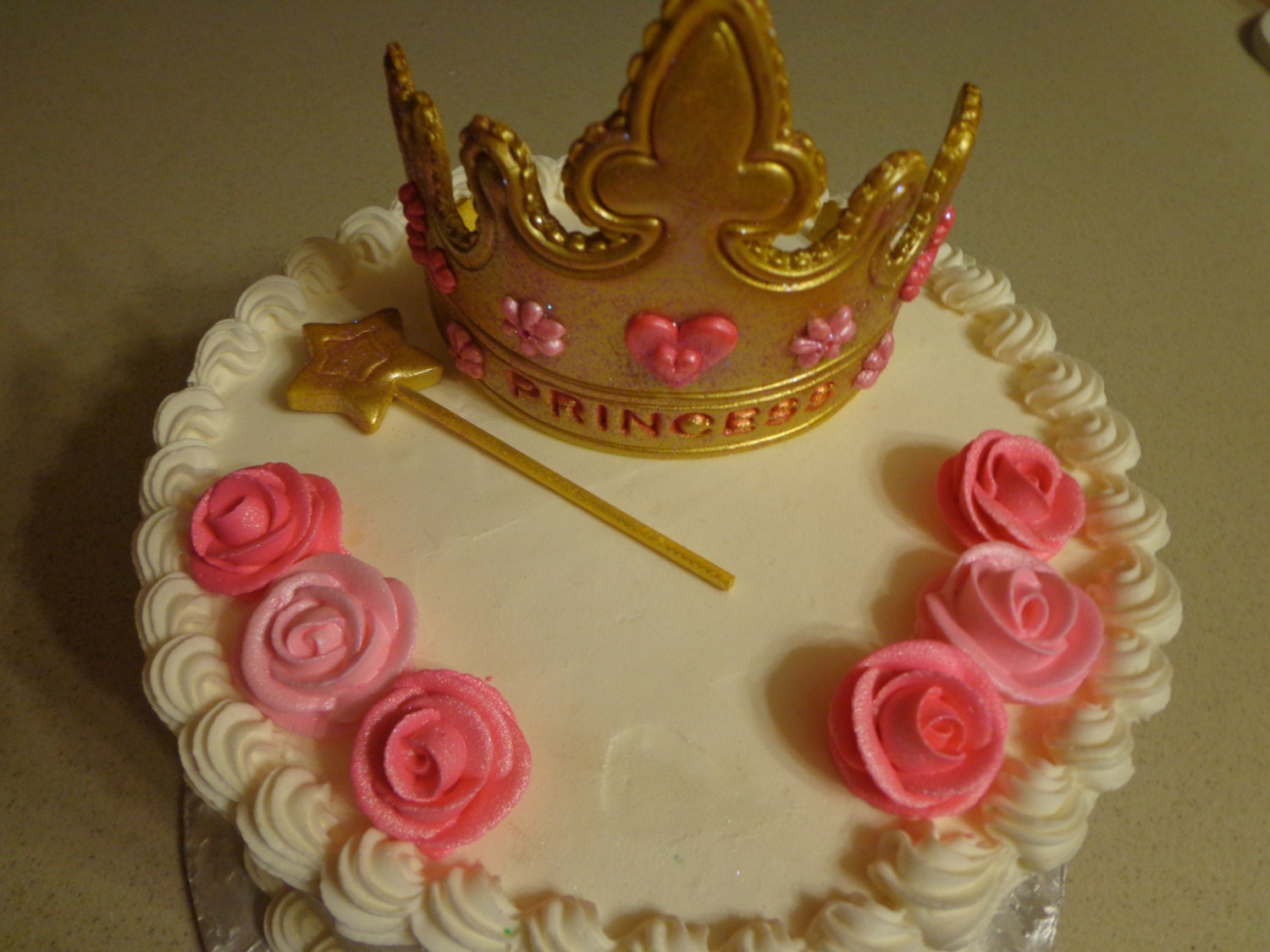Cake Decoration Crown : Gumpaste Princess Tiara Crown Cake Topper by ...