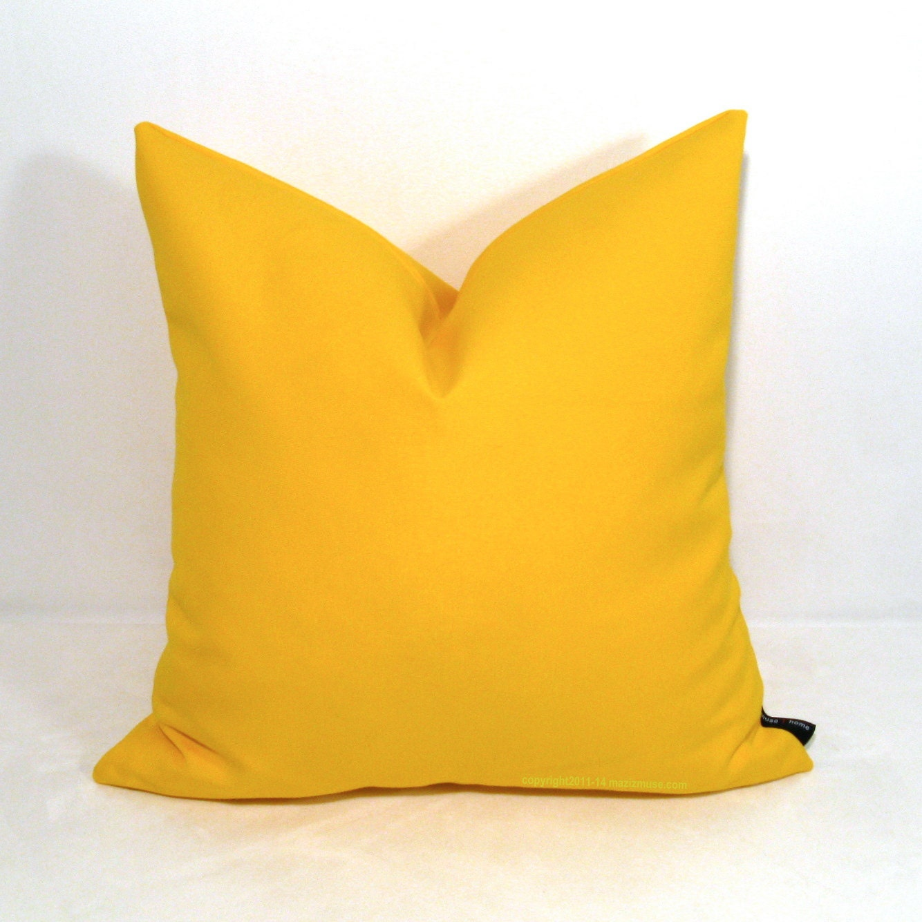 Decorative Outdoor Pillow Covers : Yellow Pillow Cover Decorative Indoor Outdoor by Mazizmuse