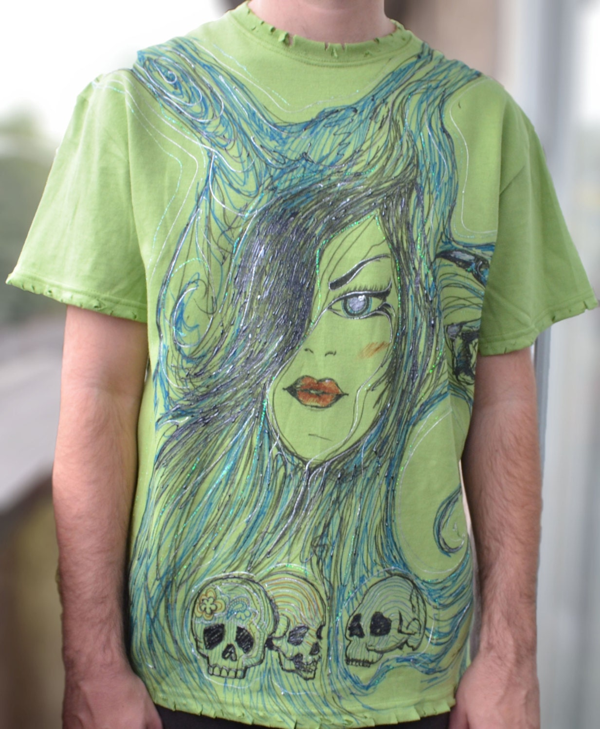 Puffy paint t shirt for him queen of the dead by Puffy paint shirt designs