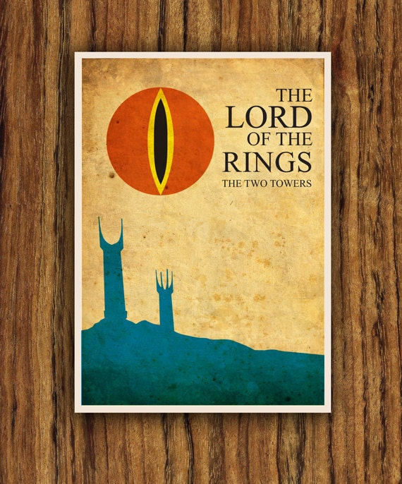 the lord of the rings poster by colorpanda on etsy