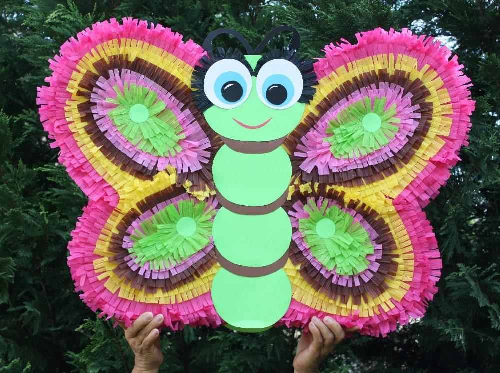 Como hacer piñatas de mariposas y flores - Imagui