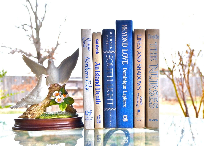 Items Similar To Nautical Vintage Decor Books Blue Home