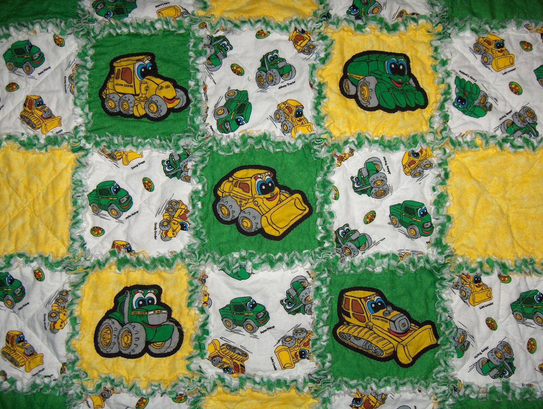 John Deere Quilt Fabric Garden View Landscape