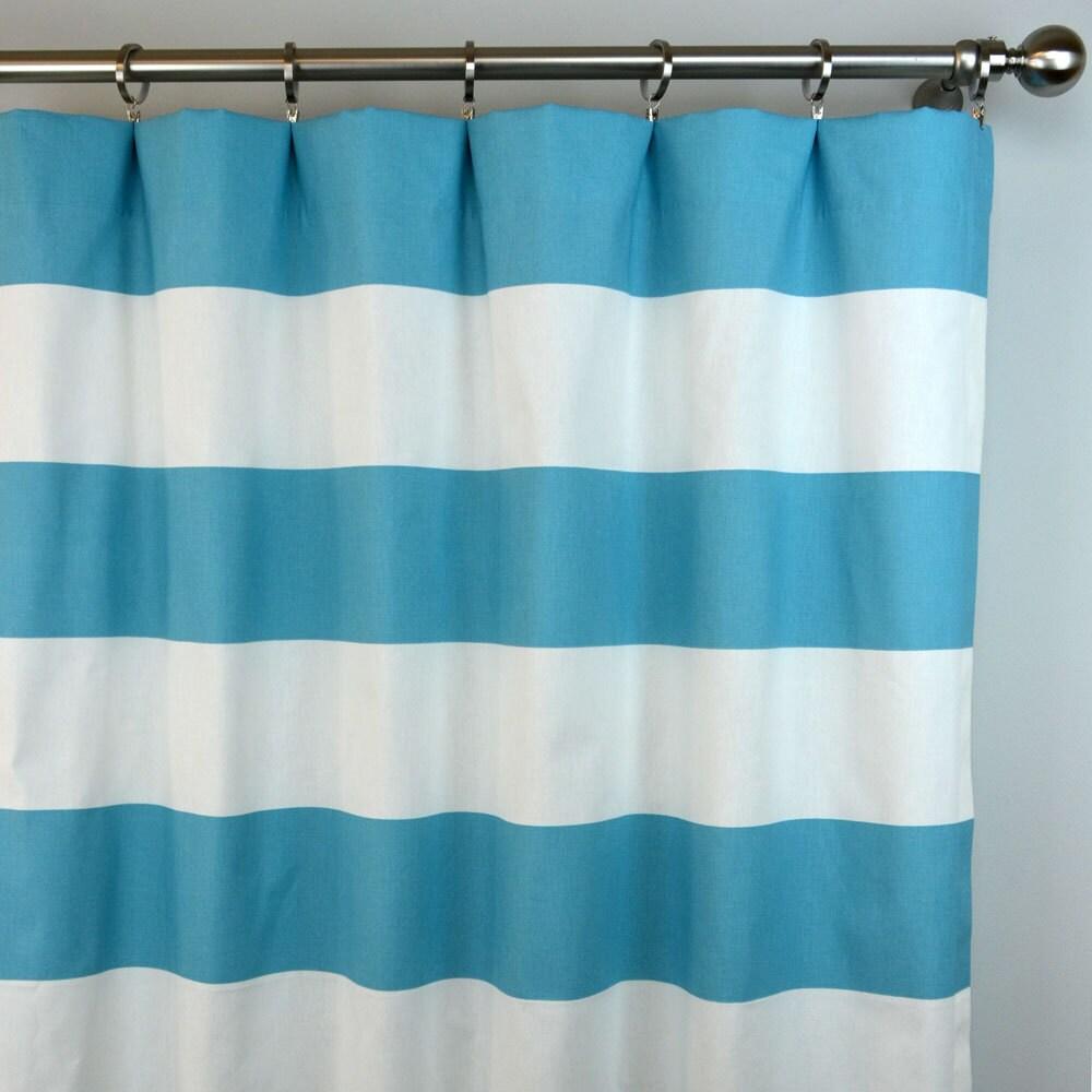 Wide stripe curtains