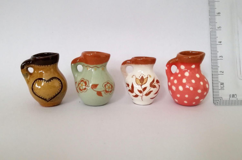 Miniature jug vase Art deco Ceramics and Pottery Ceramic vase Pottery vase Handmade jug Ornament vase Ceramic jug vase