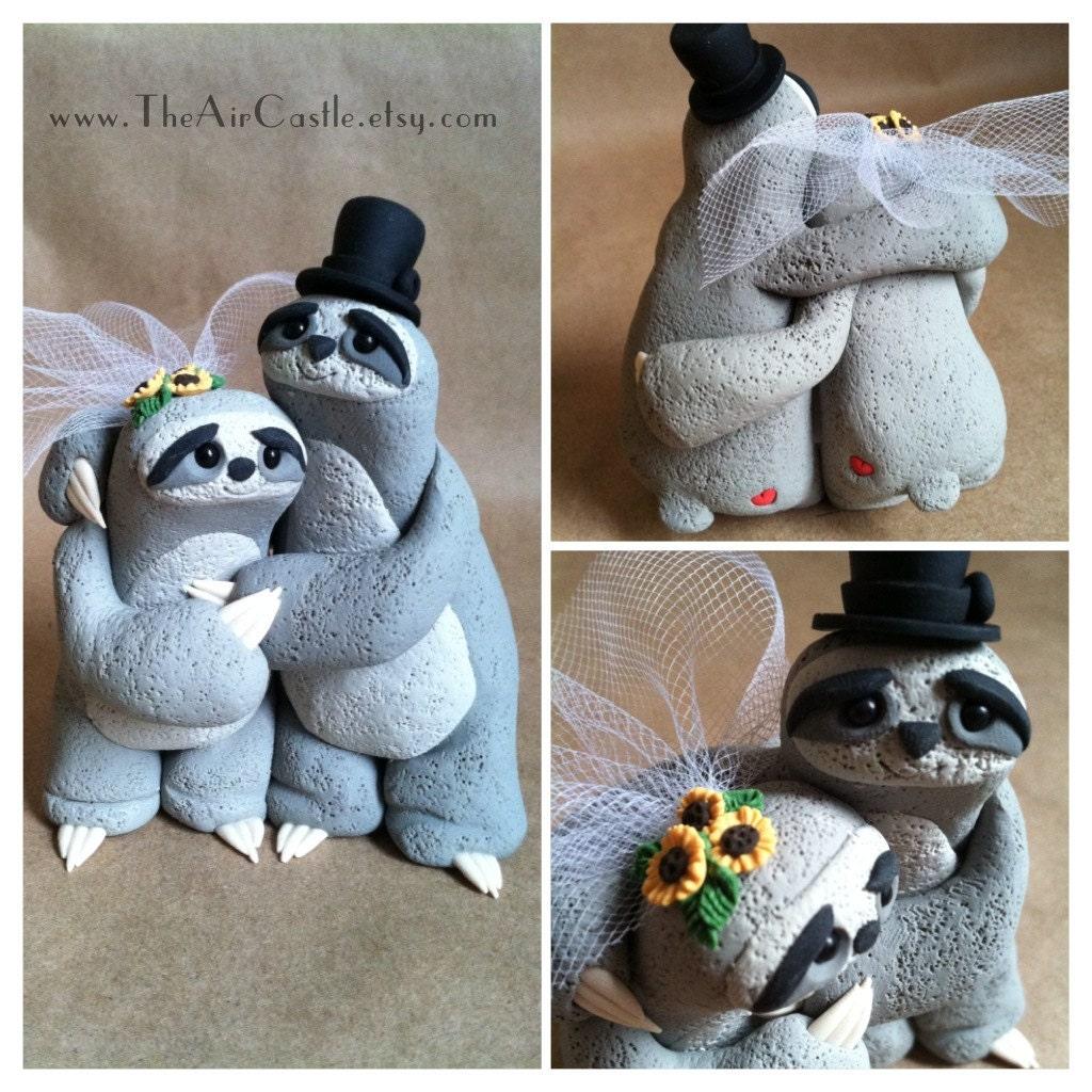 Sloth Wedding Cake Topper