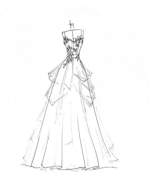 ball gown wedding dress sketches wedding dress sketch great