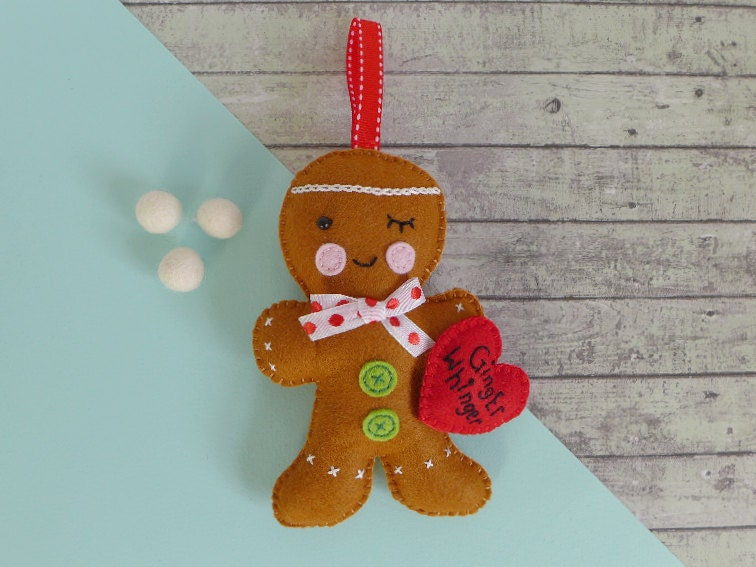 Funny gift for ginger  Fathers Day gift  felt gingerbread man  red hair gift  gift for redhead  ginger hair gift  ginger whinger