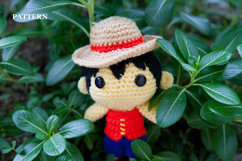 Amigurumi One Piece Pattern : PATTERN Monkey D. Luffy One Piece Amigurumi crochet by ...
