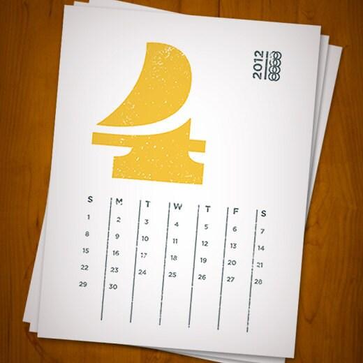 Typography Printable Calendar : Printable calendar set eames typography numerals by govango