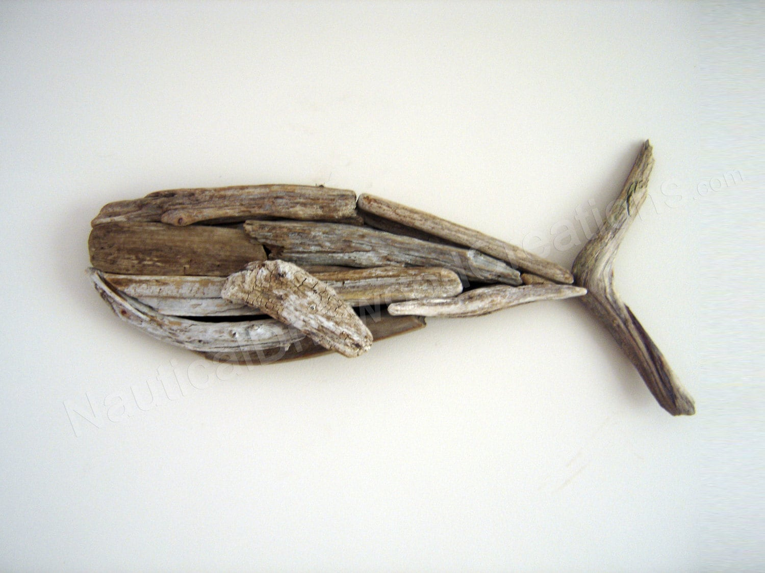 Driftwood whale hanging wall sculpture beach by for How to work with driftwood