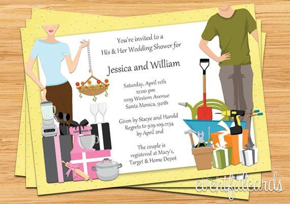 Couples Wedding Shower Invitation Wording