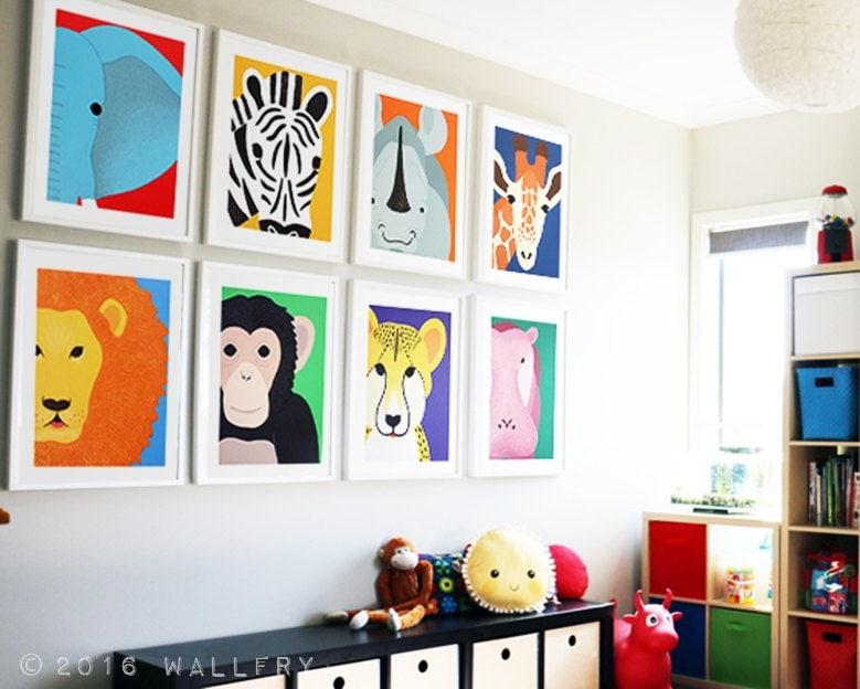 Playroom Decor Playroom Art Playroom Prints Jungle Playroom Decor