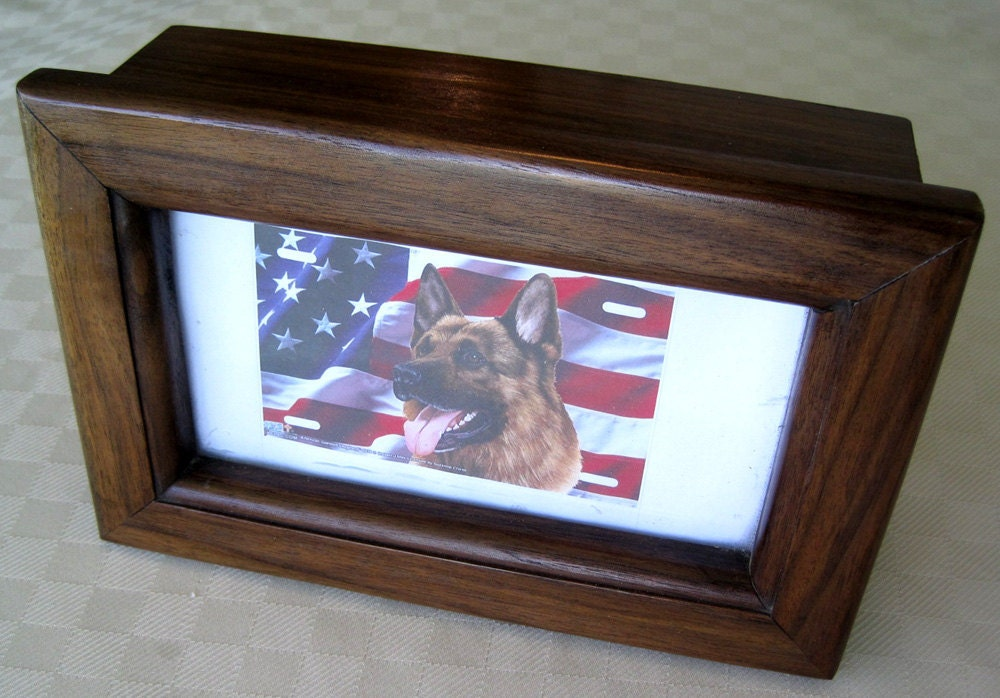 Pet Urn Dog Funeral Memorial Cat Funeral Pet Ashes Pet Coffin Wood Urn Photo of Dog Cat Memento