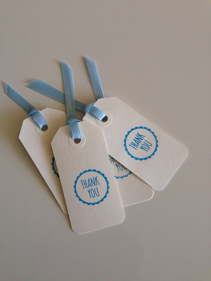 Blue Baby Shower Thank You Gift Tags - Set of 8 - RHCollection