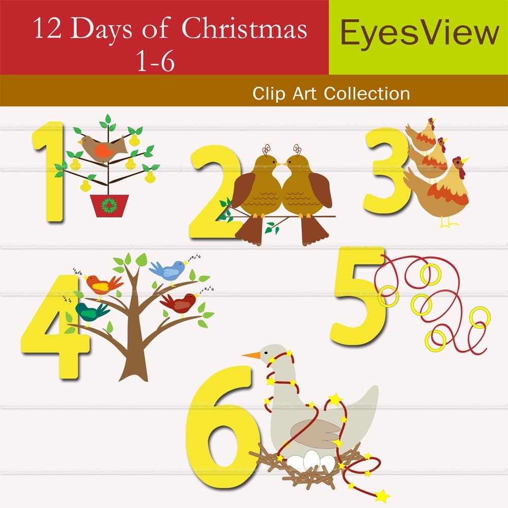 twelve days of christmas clipart free www imgkid com the image kid has it 12 days of christmas web clipart twelve days of christmas clip art