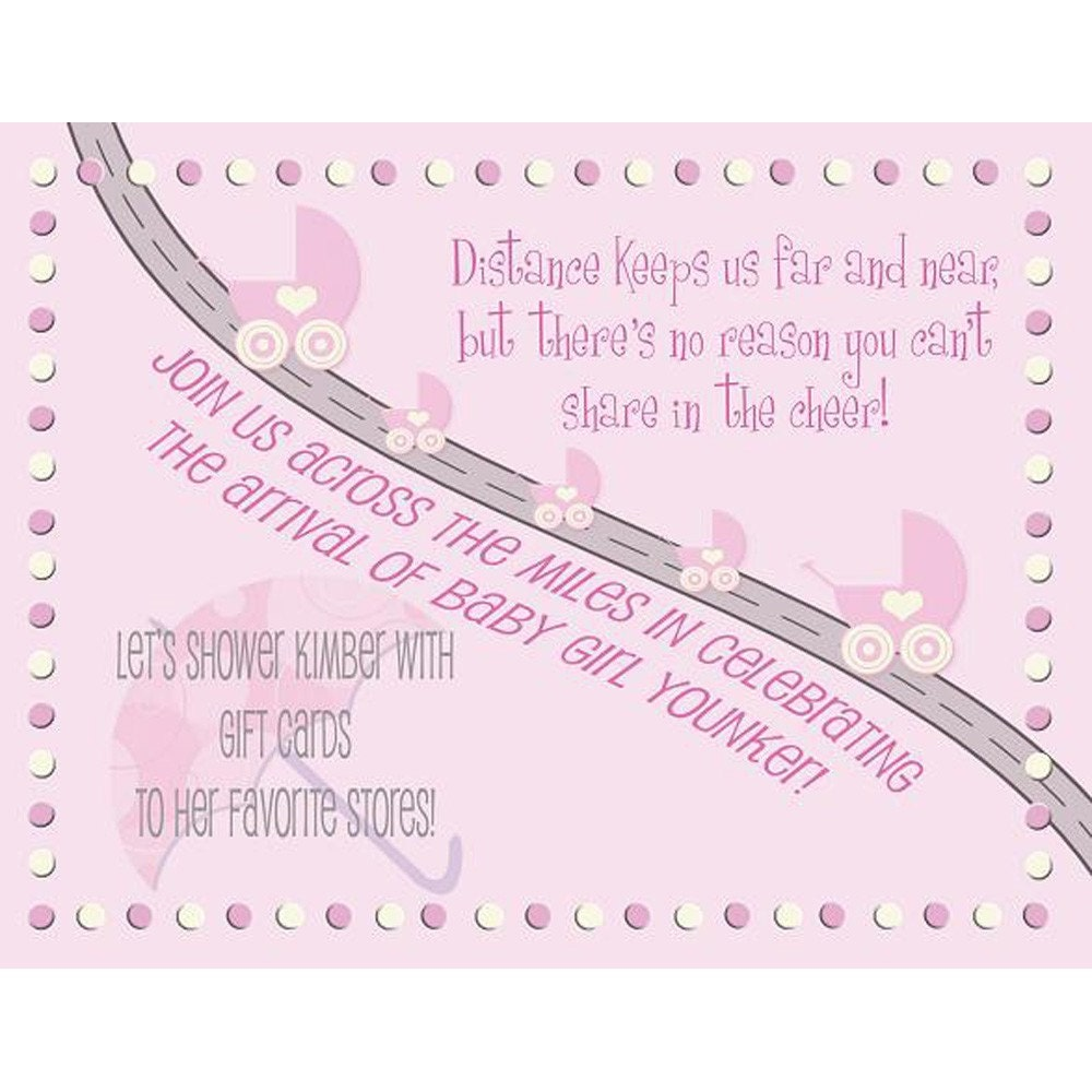 Long Distance Baby Shower Invitations
