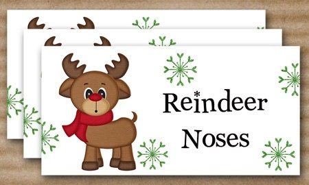 Alfa img - Showing > Reindeer Noses Poem Printable Label