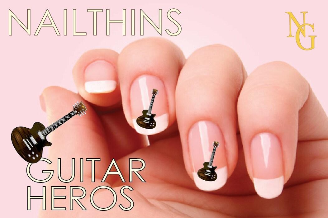 GUITAR HEROS Logo Nail Art Nail Decal Nail Design