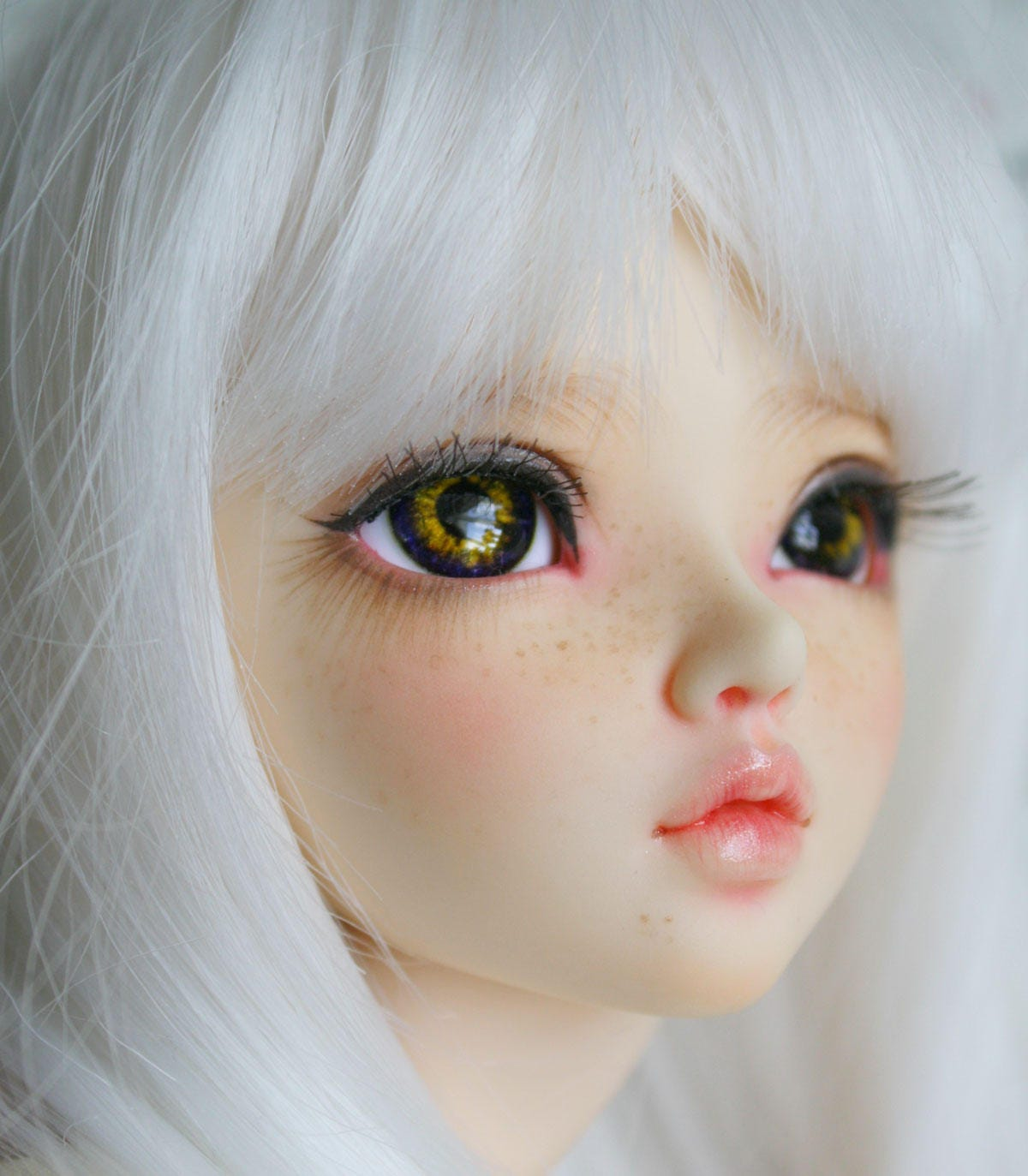 BJD eyes Doll eyes Hand made available in 12141618202224mm Nasturtium made to order