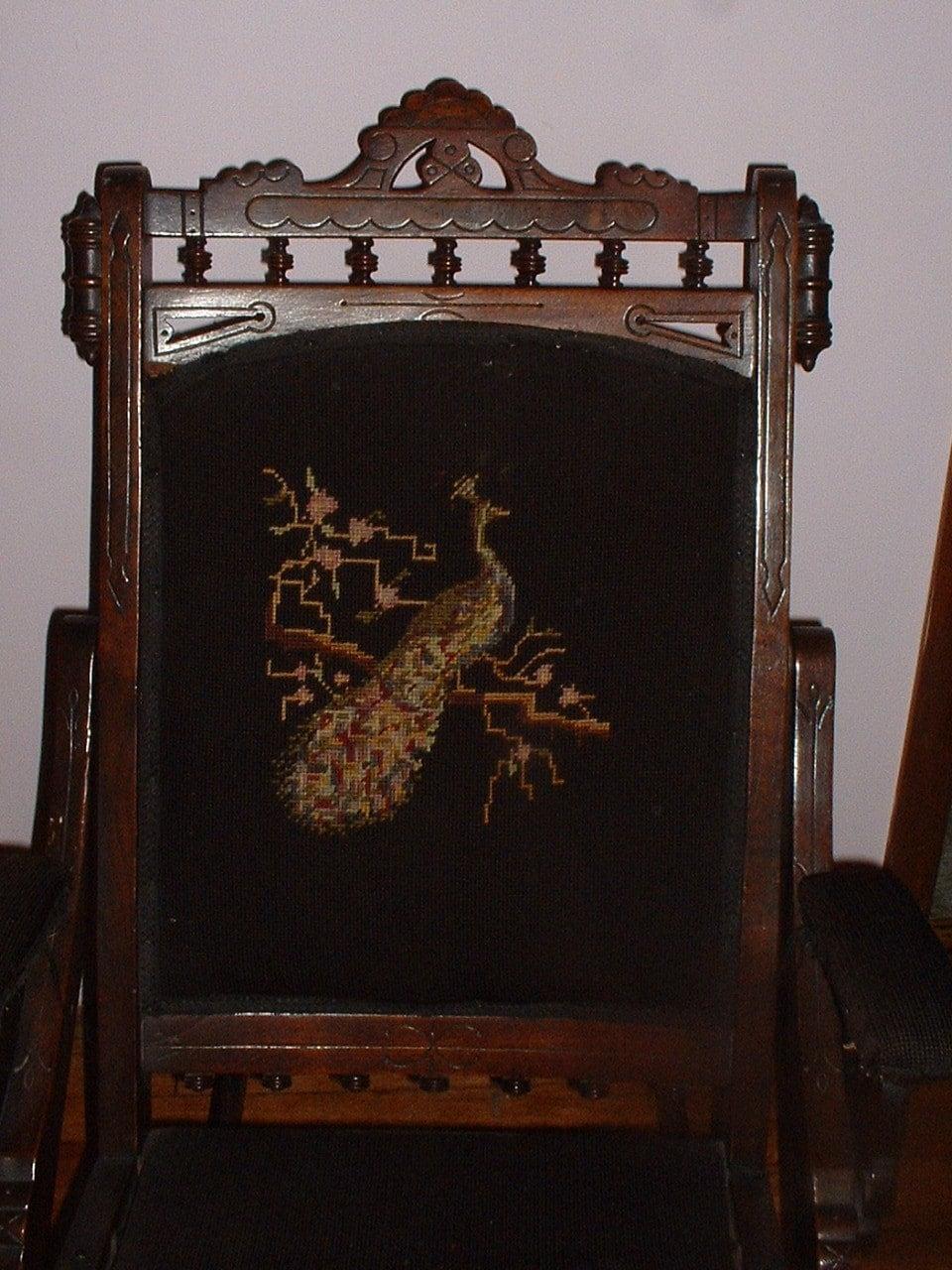Antique victorian folding rocking chair rocker