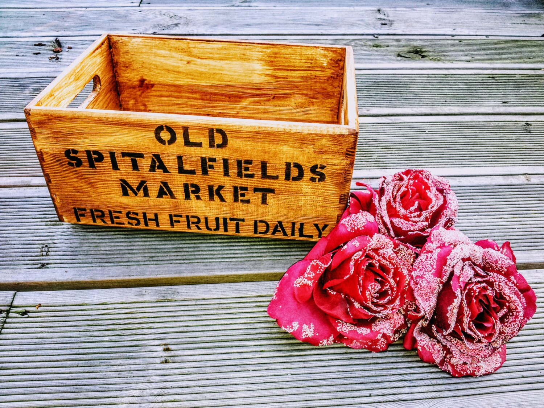 Vintage Wooden Handcrafted Rustic Pine Storage Box Chest Old Spitalfields Market Design Fabulous Kitchen Storage