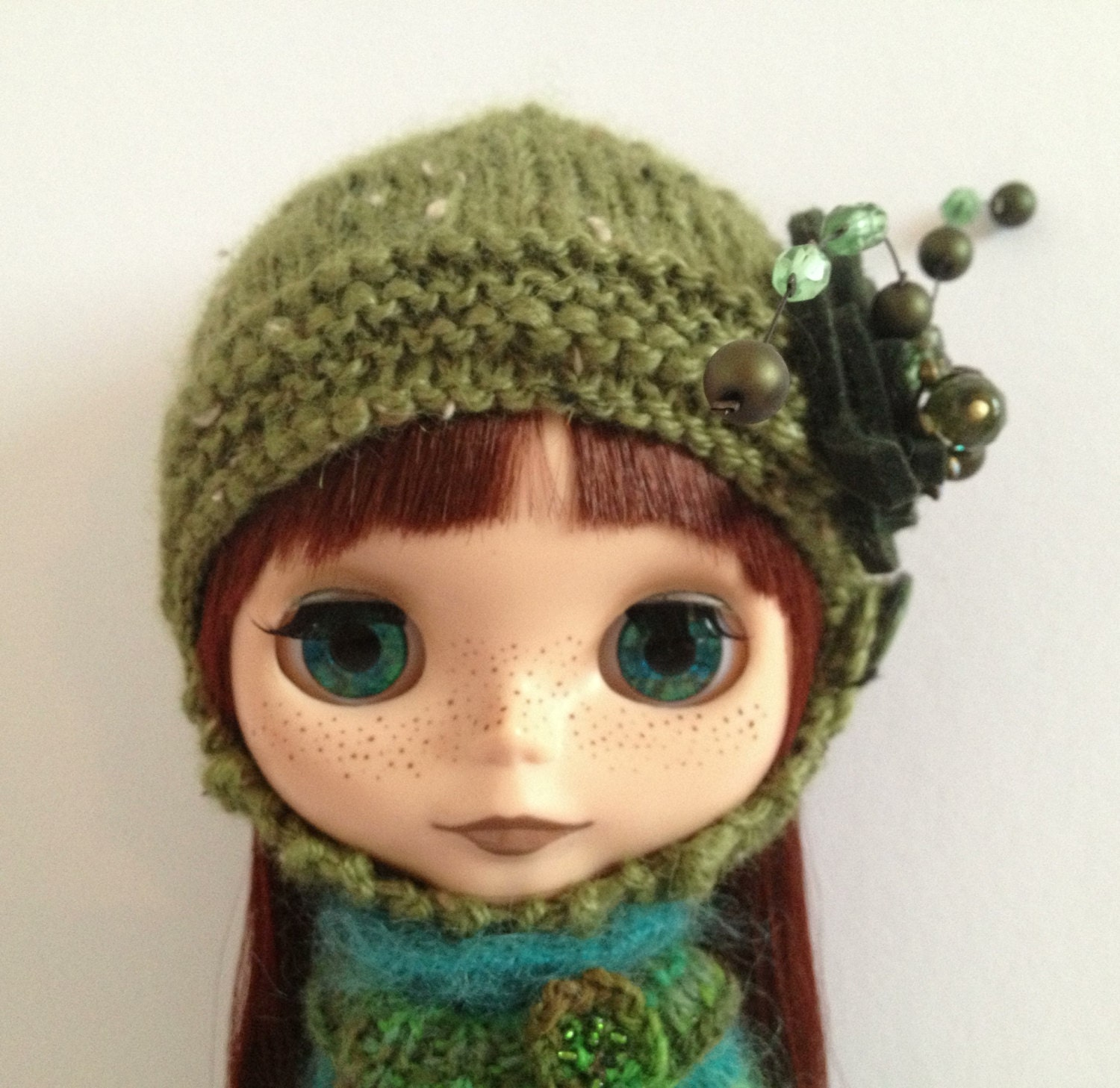 Blythe Knitting Patterns : PDF knitting pattern Helmet for Blythe and Middie by polly