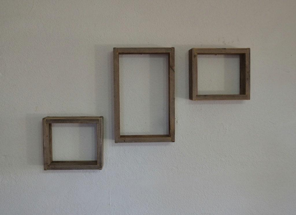 primitive barnwood shadow box wall shelves by barnwood4u. Black Bedroom Furniture Sets. Home Design Ideas