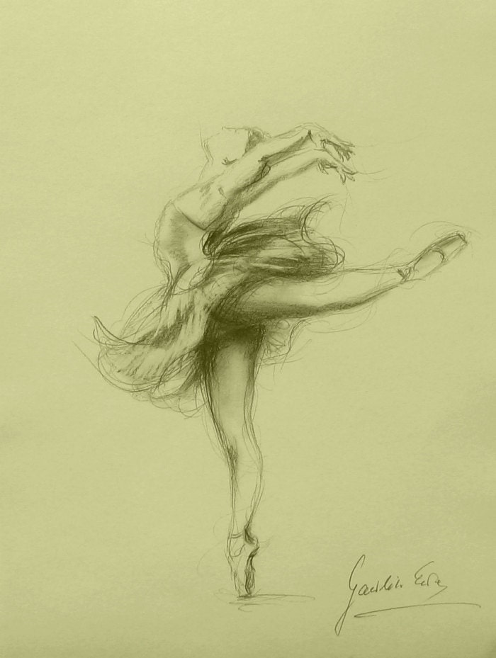ballerina pencil drawing - photo #13