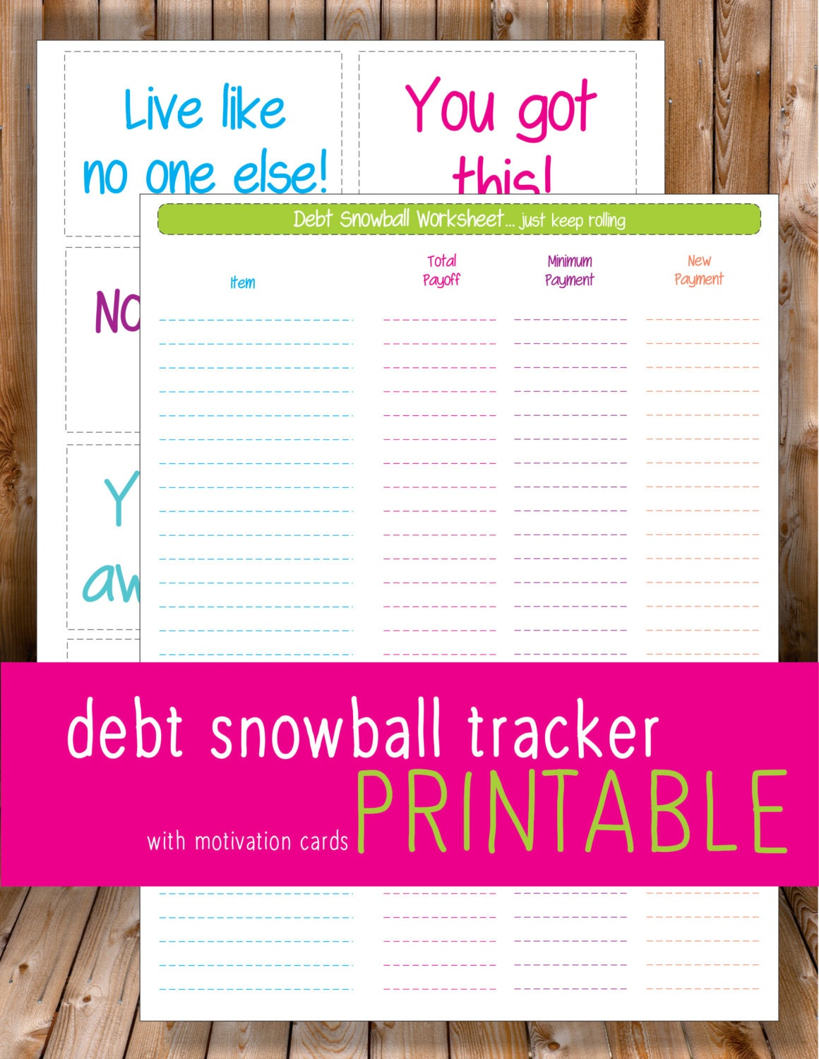 Debt payoff budget worksheet