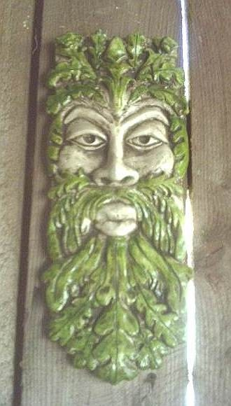 Long greenman gothic wall plaque celtic leafman by for Celtic decorations home