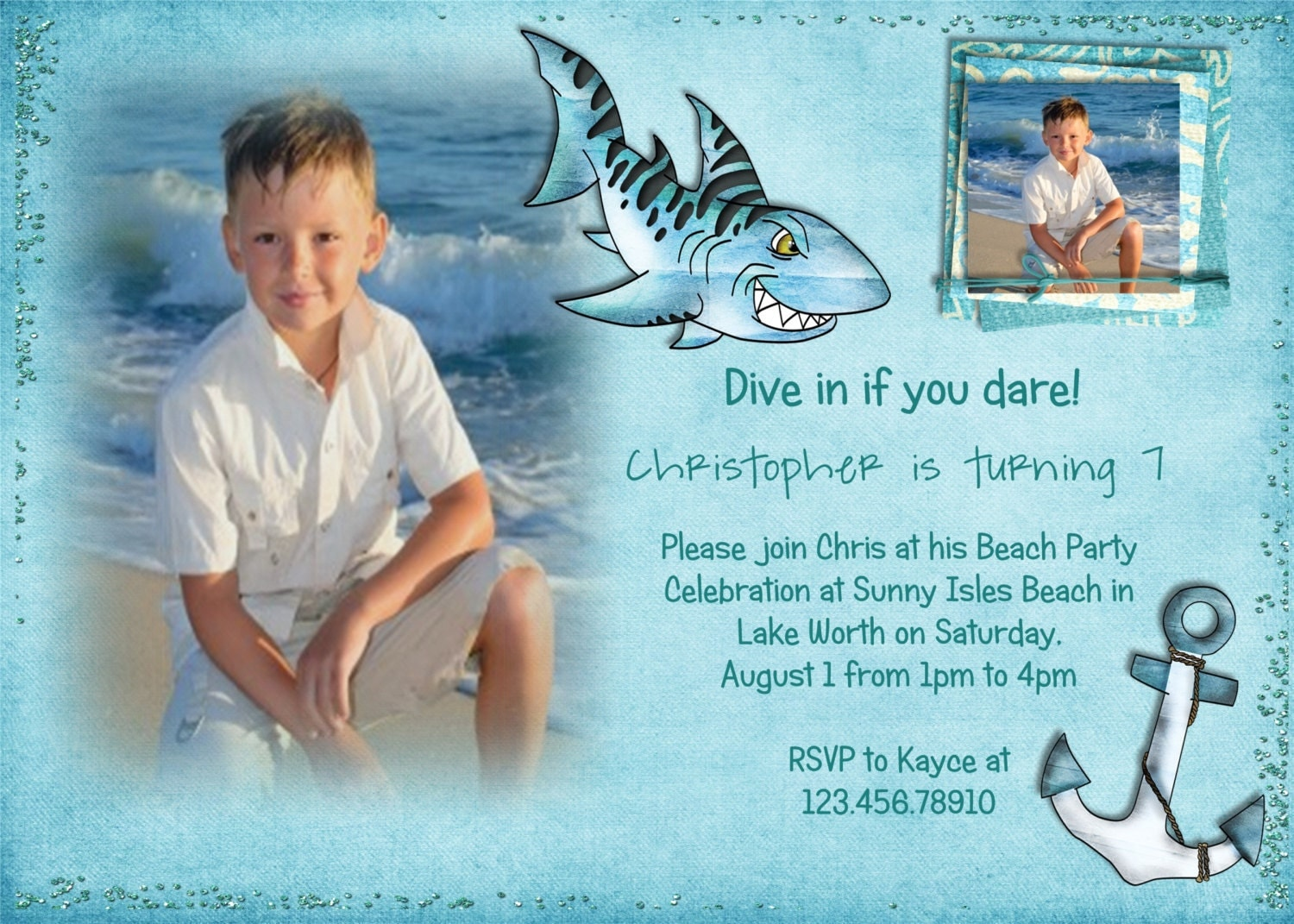 Impressive Shark Birthday Party Invitations 1500 x 1071 · 443 kB · jpeg