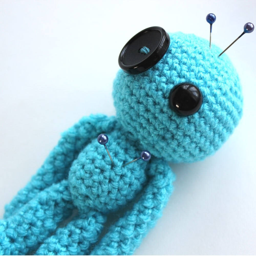 Calm the Blue Amigurumi Voodoo Doll by cutedesigns on Etsy