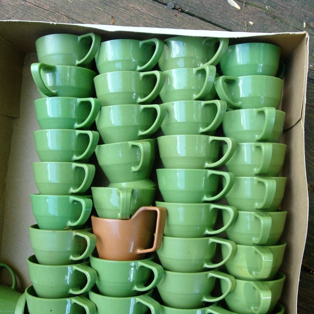 French Ceramic Sugar Bowl 1950s Folk Pottery Country Cottage: Huge Lot Solo Cozy Cup Holders...Retro By VintageStarrBeads