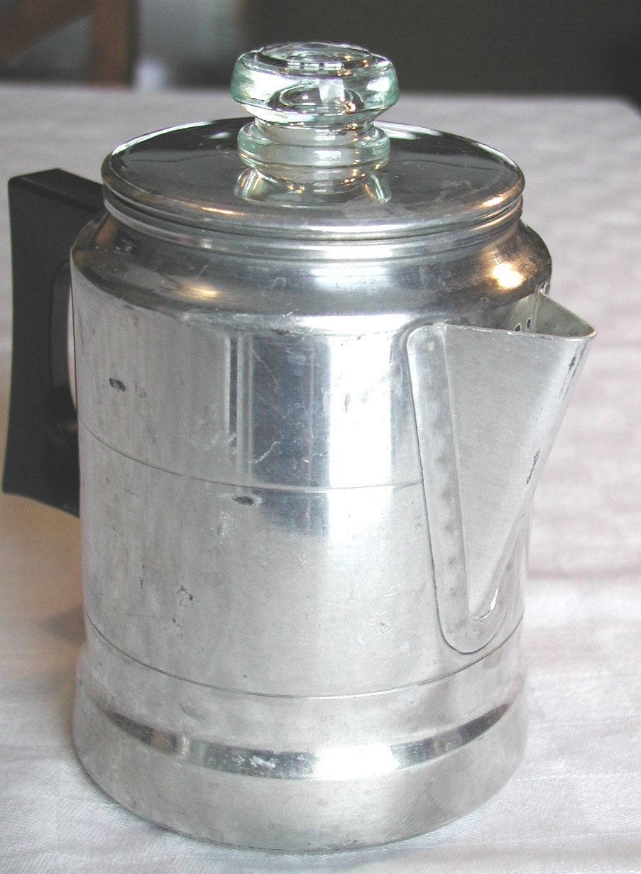 Percolator Coffee Maker Stove Top : Vintage COMET Percolator 5 Cup Stove Top by SunsetSideVintage