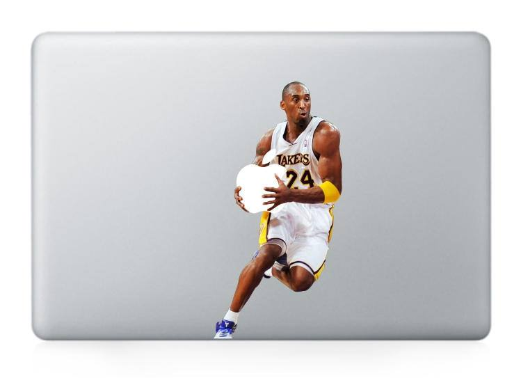 Macbook 13 inch decal sticker LAKERS 24 white basketball Apple art for Apple Laptop