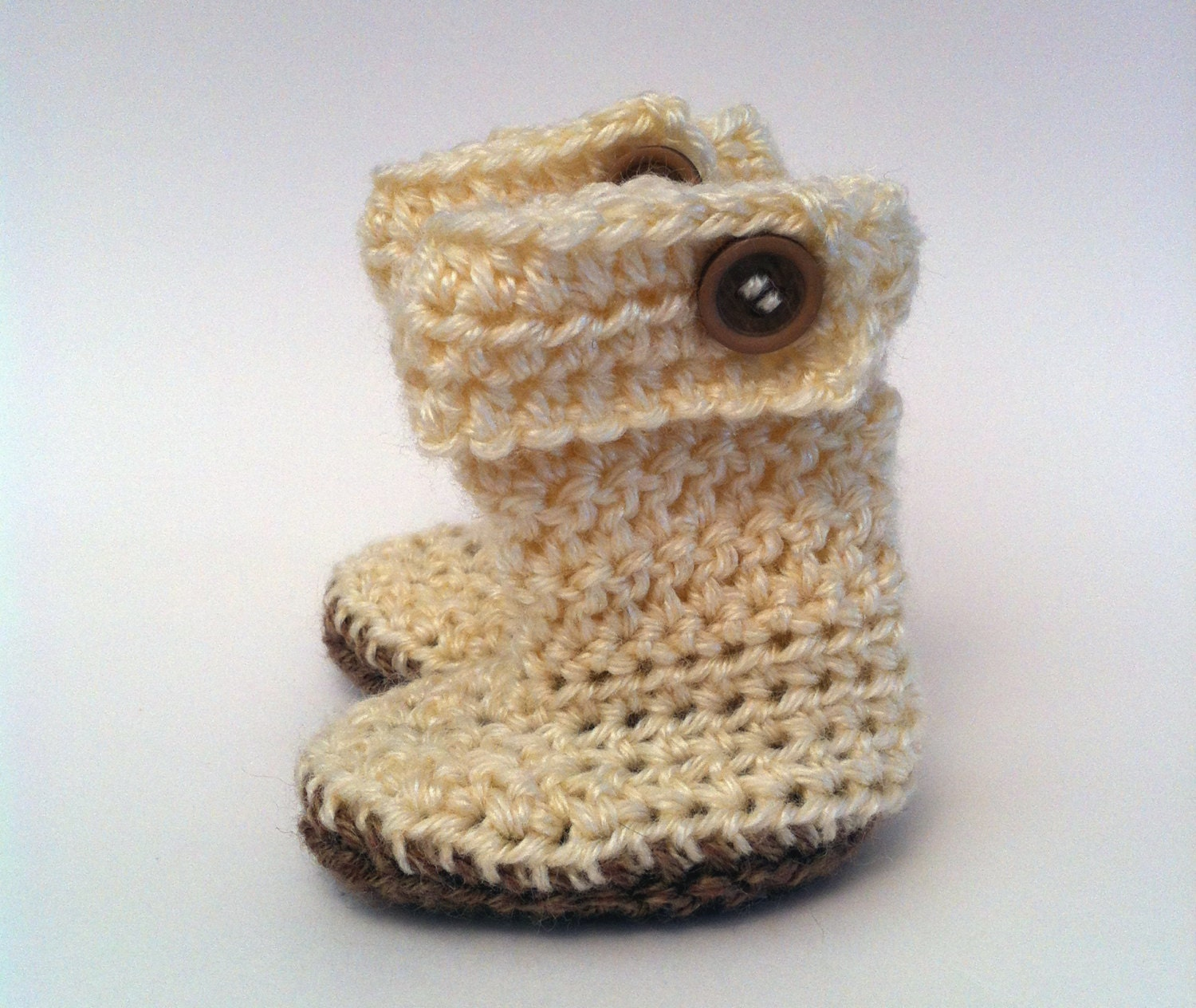 Crochet Baby Booties, Ugg Botties For Babys, Newborn Shoes,Off White ...