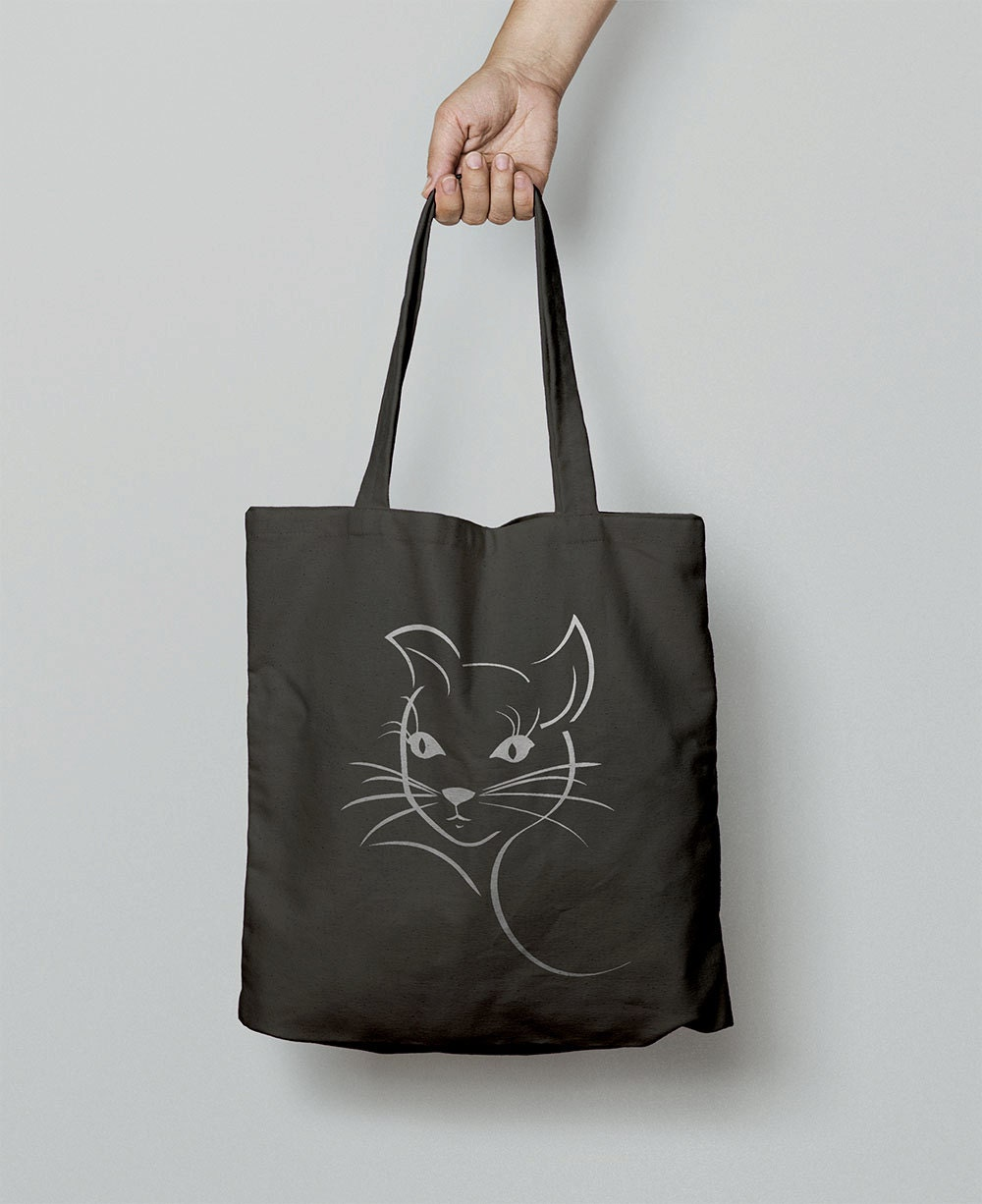 Cat Tote Bag  Canvas Bag  Shopping Bag  Shoulder Bag  Canvas Tote Bag  Christmas Gift For Girlfriend  Animal Gift Women  Cats