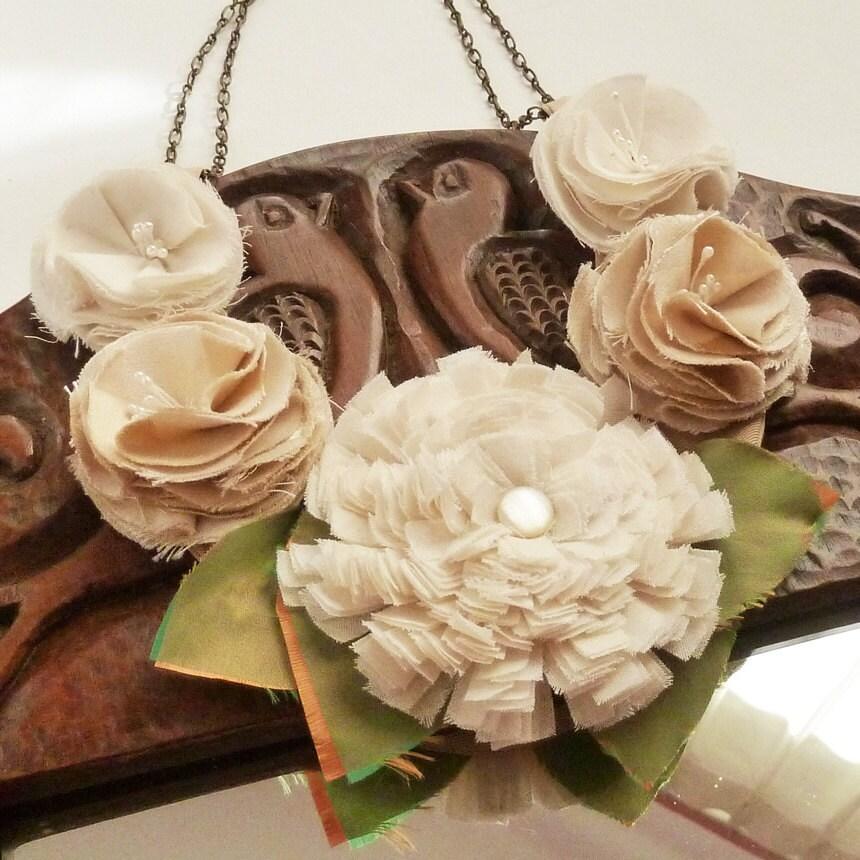 Items Similar To Fabric Flower Tutorial Shabby Chic